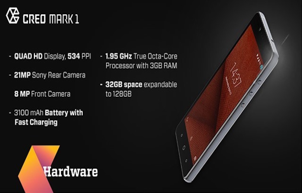 CREO Mark 1 with 5.5 Inch Quad HD Display, 3GB RAM Launched