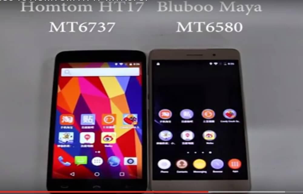 Bluboo Maya vs Homtom HT17