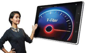 Airtel V-fiber highspeed broadband service