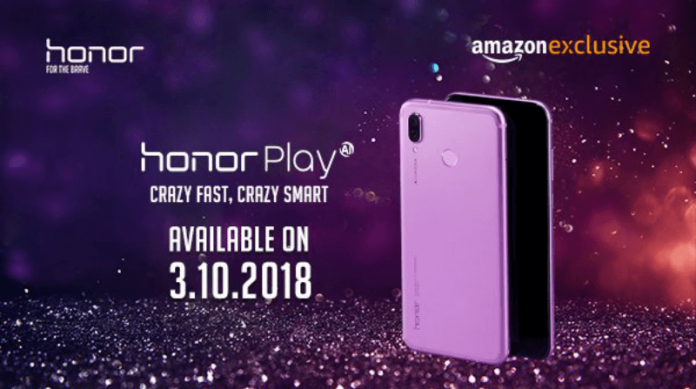 Honor Play Ultraviolet color variant